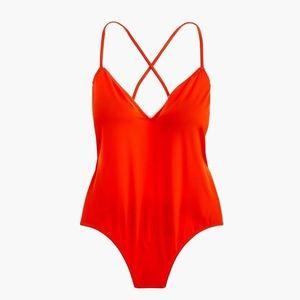 JCrew Playa Red/Orange One Piece Swim